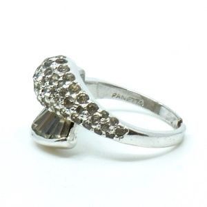 PANETTA~sterling silver~CRYSTAL COCKTAIL RING~6